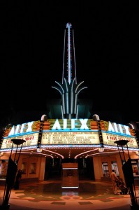 The Alex Theatre will be dimming its iconic spire for 5 months.