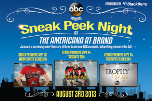 ABC presents Sneak Peek Night at The Americana at Brand.