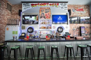 The Rusty Mullet in Hollywood offers an extensive list of custom burgers and shots.