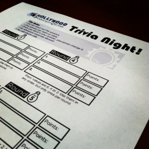 Hollywood Production Center hosted another trivia night for tenants this week.